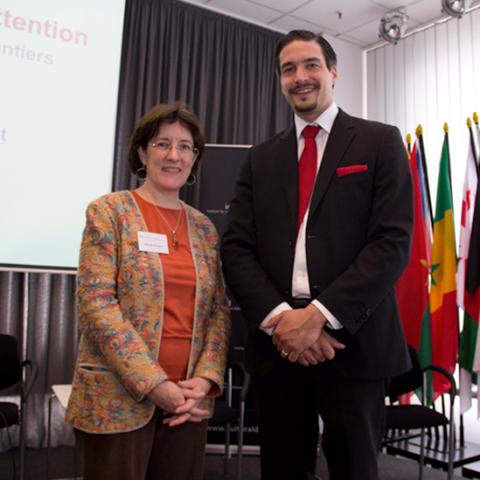 Mark Donfried with Dr. Deborah Davenport (Senior Visiting Research Associate, Environmental Change Institute, Oxford University Centre for the Environment)